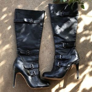 Dolce Vita Leather Boots Heels Size 6